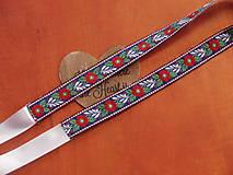 Opasky - Folklórny opasok jednostranný - 2,5cm - viac farieb krojovky - 8036990_
