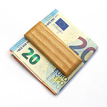 Tašky - Jaseňová spona na peniaze - 8038453_