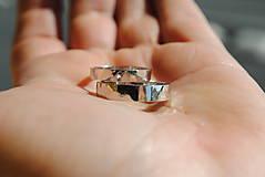 Prstene - Obrúčky tepané biele - 8040796_