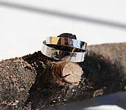 Prstene - Obrúčky tepané biele - 8040797_