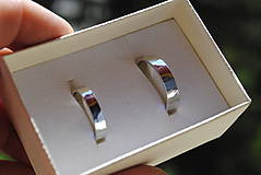 Prstene - Obrúčky tepané biele - 8040798_