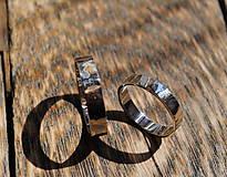 Prstene - Obrúčky tepané biele - 8040799_