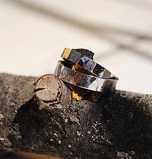 Prstene - Obrúčky tepané biele - 8040794_