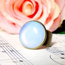 Prstene - Opalite Classic Ring / Prsteň s opalitom v bronzovom prevedení /0584 - 8040930_