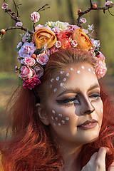 Ozdoby do vlasov - kvetinový polvenček - 8041936_