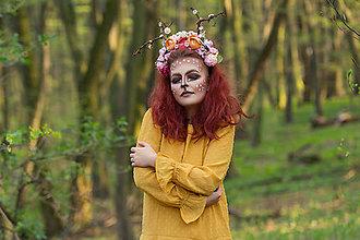 Ozdoby do vlasov - kvetinový polvenček ala jelenček - 8041935_