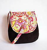 Veľké tašky - Veľká menžestrová hippie taška v teplých farbách - 8039741_