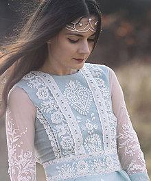 Ozdoby do vlasov - Mosadzná biela tiara - K anjelom - 8041069_