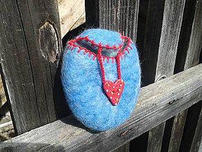 Detské tašky - tajnostkárik - modrá jahoda - 8041054_
