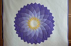 Úžitkový textil - Patchworková deka DAHLIA - 8042762_