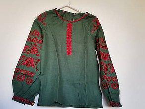 Košele - Vyšívaná dámska košeľa Olívia - 8040611_