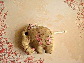 Hračky - Slonia  ružová princezna, trochu bodkovaná - 8040497_