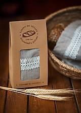 Úžitkový textil - Vrecko na chlieb s motívom krajka  (Vrecko na chlieb krajka malé) - 8043184_