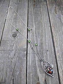 Náhrdelníky - Jar na záhrade / náhrdelník - 8040890_