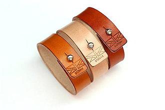 Náramky - Kožený náramok 2cm - 8042176_
