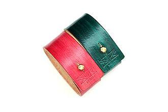 Náramky - Kožený náramok SAIRAM (Zelená) - 8042522_