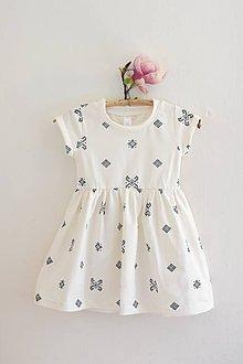 Detské oblečenie - Jersey šatočky s folklórnym motívom krížik - 8041077_