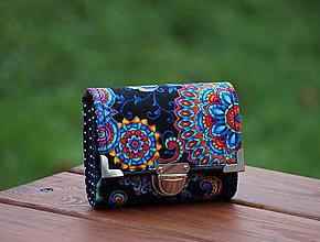 Peňaženky - Peněženka Kaleidoskop, 8 karet, na fotky - 8041298_