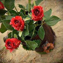 Nádoby - Váza z lesa s jorkšírskym teriérom - 8042767_