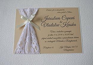 Papiernictvo - Svadobné oznámenie ELEGANCE - 8043238_