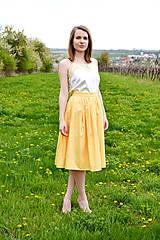 Sukne - Princess every day - žltá sukňa  - 8039645_