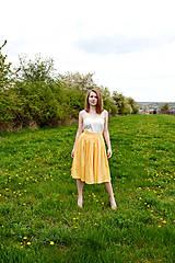 - Princess every day - žltá sukňa - obrovská zľava  - 8039646_