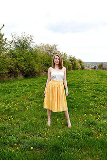 Sukne - Princess every day - žltá sukňa - 8039646_