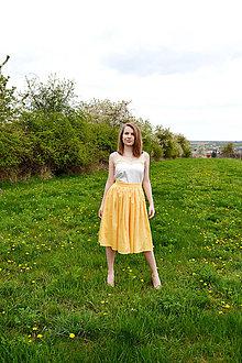Sukne - Princess every day - žltá sukňa - obrovská zľava  - 8039646_