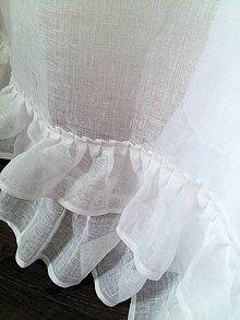 Úžitkový textil - Ľanová záclona Romantic Dreams - 8042930_