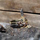 Prstene - 1x alebo prstienok so srdiečkom - 8044816_