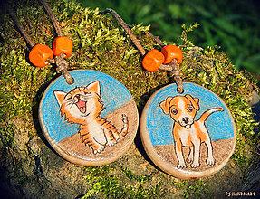 Náhrdelníky - O psíčkovi a mačičke - 8046394_