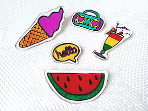 Odznaky/Brošne - Retro Summer brooches - 8044262_