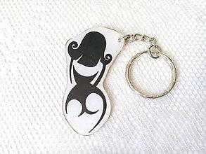 Kľúčenky - Burlesque Girl (keyring/kľúčenka) - 8044411_