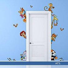 Dekorácie - (3595f) Nálepka na stenu - Zvieratká III - 8043773_