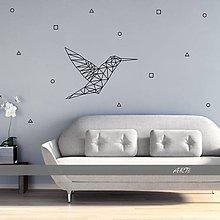 Dekorácie - (3797n) Nálepka na stenu - Kolibrík - 8043828_