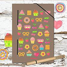 Papiernictvo - MADEBOOK kniha A5 - sladkosti - 8043749_