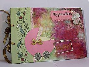 Papiernictvo - ružovo_zelený detský album - 8047281_