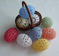 Dekorácie - Farebné vajíčka - 8044228_