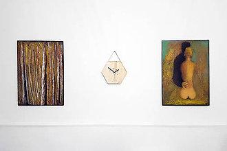 Hodiny - Marc Hexagon Clock - šestuholníkové visiace hodiny - 8043799_