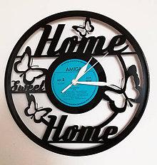 Hodiny - Home Sweet Home hodiny z vinylu - 8047391_