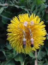 Melónový turmalín - náušnice