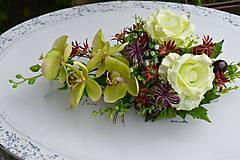 Dekorácie - Miska s orchideou - 8045322_