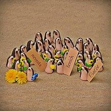 Darčeky pre svadobčanov - Ježkovia a slnečnice - darčeky a menovky pre svadobčanov - 8044686_