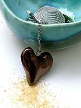srdce sitko na čaj srdce kovové