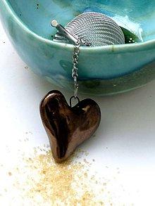 Nádoby - srdce sitko na čaj srdce kovové - 8045067_