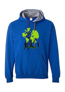 Mikiny - Mikina strom zeme modrosivá - 8043926_