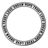- Prívesok / konektor DREAM HOPE TRUST LOVE 36mm - 8047158_