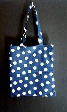 Nákupné tašky - niečo ako EKOTAŠKA - modrá guľôčková - 8045328_