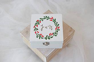 Prstene - Svadobná krabička šípková / k oznámeniu - 8043603_