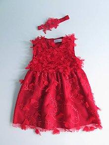Detské oblečenie - Detské červené lupienkové šaty, veľ. 74 - 8046335_